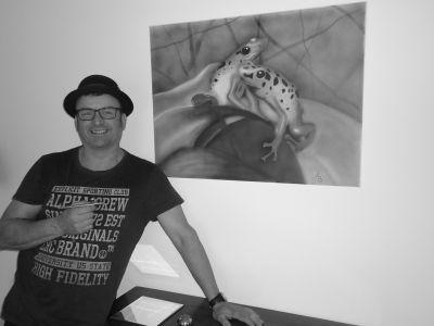 Soester kunstenaar Ad Beijer showt Airbrush-produkten bij groot festival in Lelystad